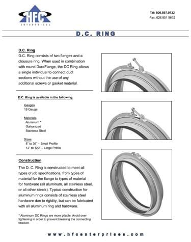 DC Ring Specs